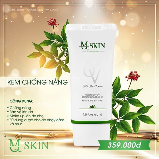 Kem chống nắng MQ Skin chính hãng | Shopee Việt Nam