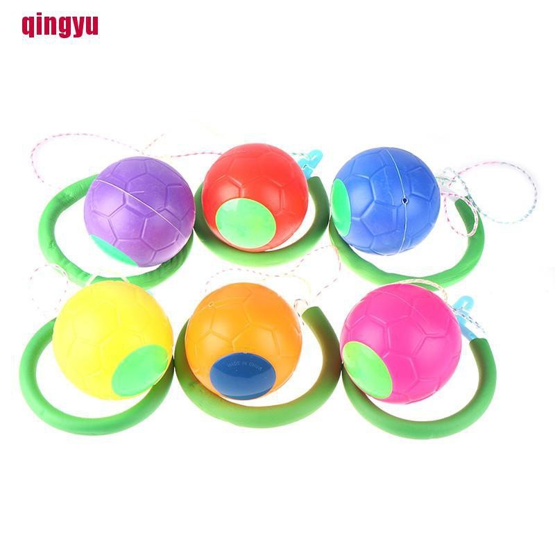 [qingyu]Sponge Coil Skip Ball Outdoor Fun Toy Balls Classical Skipping Toy Fit