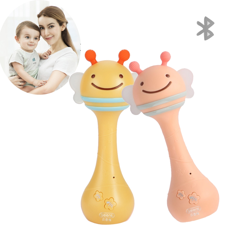 Gift Infant Rhythm Induction Music and Light Smart Shaking Rattles