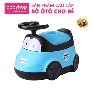 Bô ô tô babyhop cho trẻ em có vô lăng và khung hình bánh xe cho bé tập đi vệ sinh tự lập