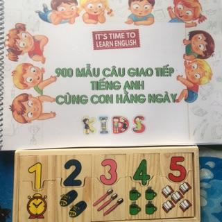 SALE Đồ chơi số học ghép đôi tặng 900 mẫu câu Tiếnga Anh giao tiếp cùng con hàng nhày