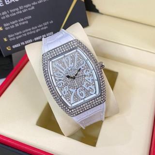 Đồng hồ nữ Franck Muller full đá máy pin dây cao su có bảo hành DHN002 hongnhungshop thumbnail