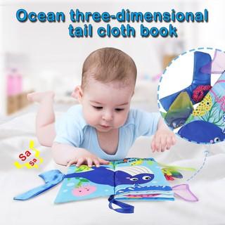 Sách vải mềm hình động vật 3D phát âm thanh cho bé