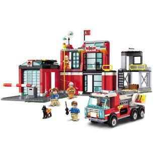 Bộ đồ chơi xếp hình Trạm Cứu Hỏa Lớn