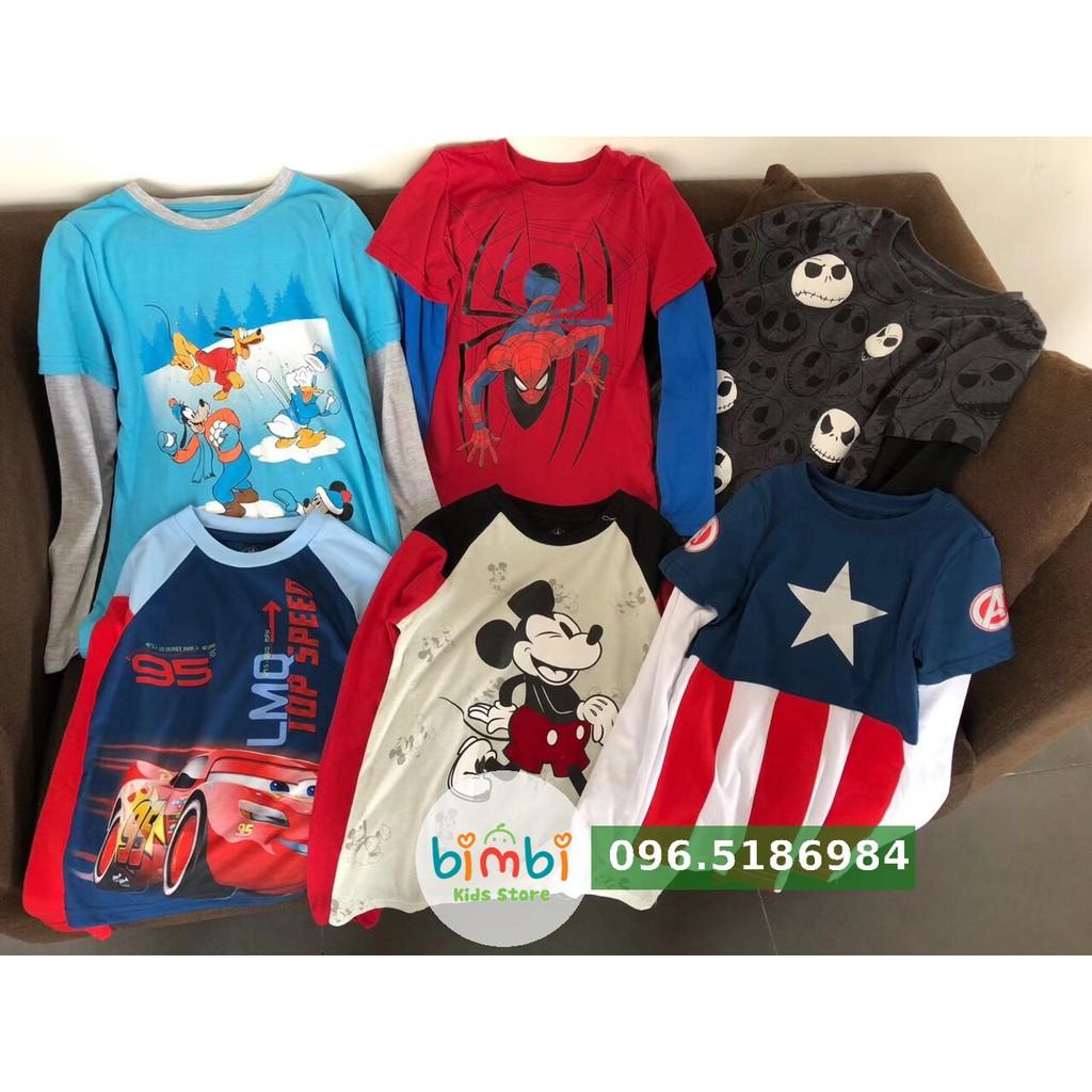 Áo cotton bé trai dư xịn đét hiệu Disney 2-14T
