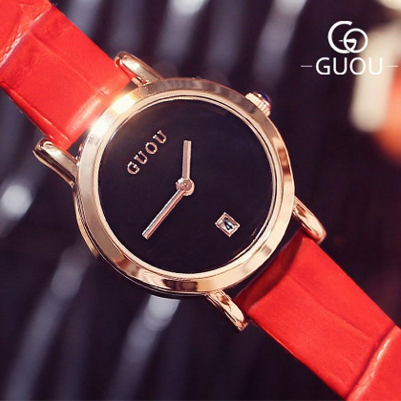 Đồng hồ nữ GUOU dây da có lịch ngày mặt kim trơn đơn giản GUOU 8028 - 3462694 , 979306017 , 322_979306017 , 650000 , Dong-ho-nu-GUOU-day-da-co-lich-ngay-mat-kim-tron-don-gian-GUOU-8028-322_979306017 , shopee.vn , Đồng hồ nữ GUOU dây da có lịch ngày mặt kim trơn đơn giản GUOU 8028