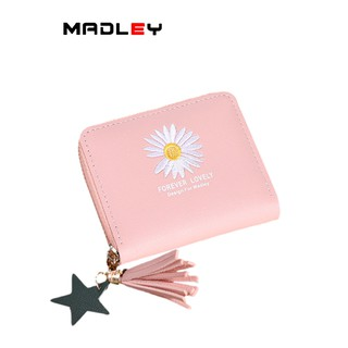 Ví nữ nhỏ ngắn bỏ túi MADLEY nhiều ngăn cao cấp đựng tiền cute dễ thương VD412 thumbnail