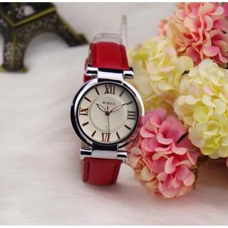 Đồng hồ thời trang nữ WOKAI dây da mềm, đeo êm tay, 3 màu dể dàng phối đồ