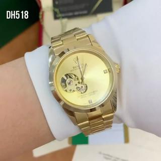[Máy cơ] Đồng hồ nam Ro.colec mạ vàng 18k automatic chống nước lộ cợ DH518 - Shop953