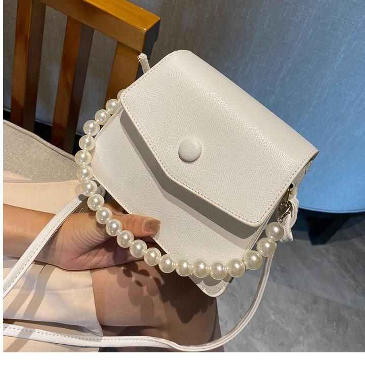 Túi xách nữ đẹp đeo chéo đeo vai quai ngọc trai nhân tạo cao cấp phong cách thời trang hàn quốc giá rẻ TX004