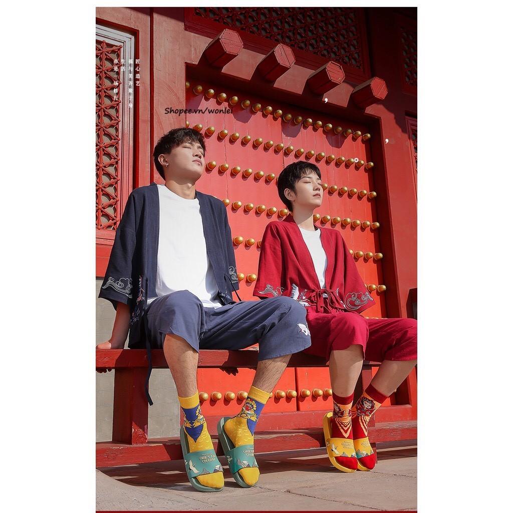 Dép thời trang quai ngang  Hồng Hạc cực hot 2020