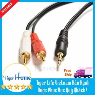 Cáp Audio Jack 3.4 to Bông sen Cắm âm ly, mp3, điện thoại thumbnail