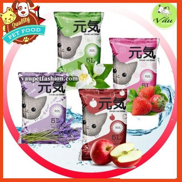 [GIẢM SỐC] Cát GENKI Nhật Bản - 5L Cát vệ sinh cho mèo  Phụ kiện chó mèo Pet shop Hà Nội