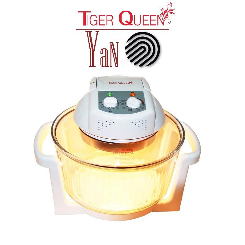 Lò nướng thủy tinh đèn đốt Halogen 11L Tiger Queen AX-737MHV 1300W màu trắng - Hàng chính hãng