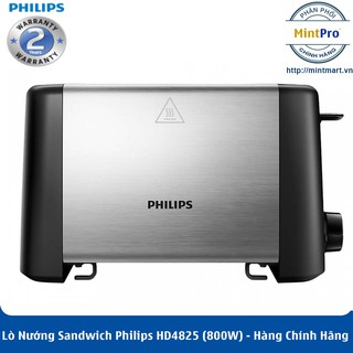Lò Nướng Sandwich Philips HD4825 (800W)- Hàng Chính Hãng – Bảo Hành 2 Năm Trên Toàn Quốc