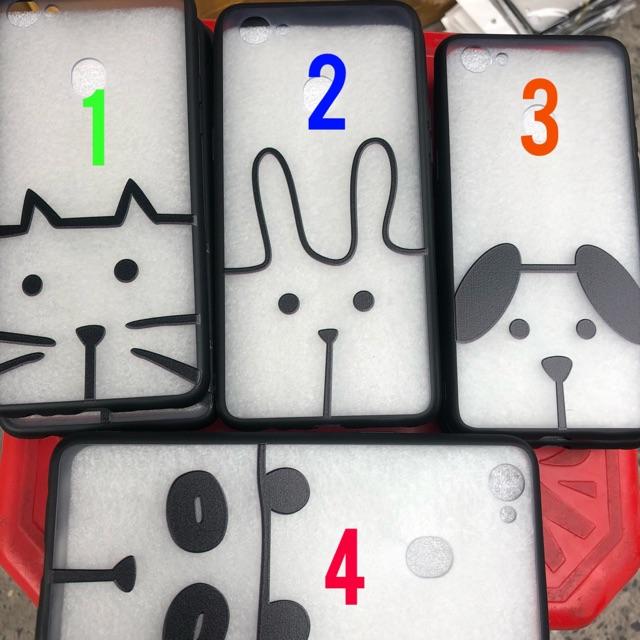 Ốp lưng Oppo F5 in hình trắng đen case dẻo