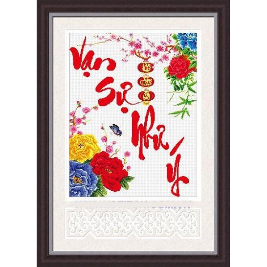 Tranh thêu chữ thập chưa thêu Vạn Sự Như Ý - 3075401 , 446763599 , 322_446763599 , 121000 , Tranh-theu-chu-thap-chua-theu-Van-Su-Nhu-Y-322_446763599 , shopee.vn , Tranh thêu chữ thập chưa thêu Vạn Sự Như Ý