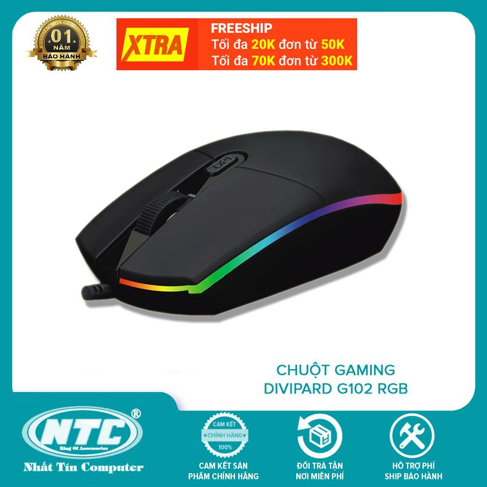 Chuột game DIVIPARD G102 DPI 2400 - led RGB cực đẹp (Đen)