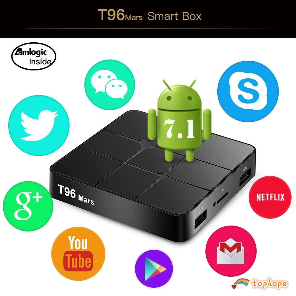 2019 Ultra 4K Pro Quad Core Android 7.0 HDMI TV Box HD Sports 3D Media Player UK Tophope