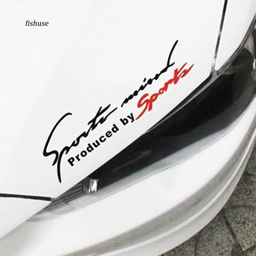 """Giấy dán xe hơi chống thấm nước họa tiết chữ """" fhue _ RACING """""""