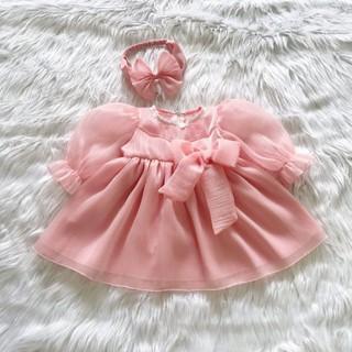váy công chúa hồng ánh (Tặng kèm turban)