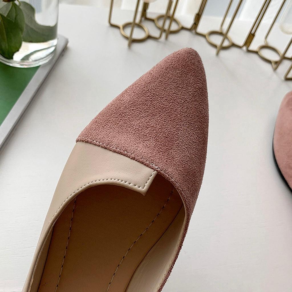 Giày Búp Bê Nữ Mũi Nhọn Thời Trang