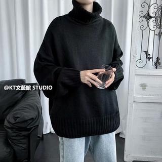 Áo Sweater Cổ Lọ Phối 2 Màu Thời Trang Cho Các Cặp Đôi