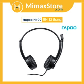 [Mã ELFLASH5 giảm 20K đơn 50K] Tai Nghe Có Dây Chụp Tai On-ear Rapoo H100 Wired Stereo | BẢO HÀNH 12 THÁNG