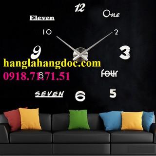 Đồng hồ dán tường loại lớn (version 6) DIY Clock 360 độ hiện đại