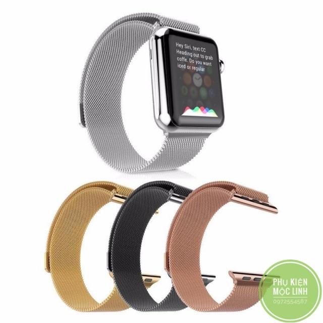 🌗 ĐÃ VỀ MIDNIGHT GREEN 🌗 Dây thép đồng hồ milanese loop Apple Watch Series 1/2/3/4/5 size 38 40 42 44 mm