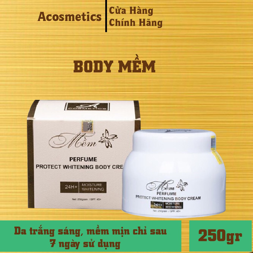 Kem Body Mềm Acosmetics, kem dưỡng trắng da toàn thân (Chính Hãng)