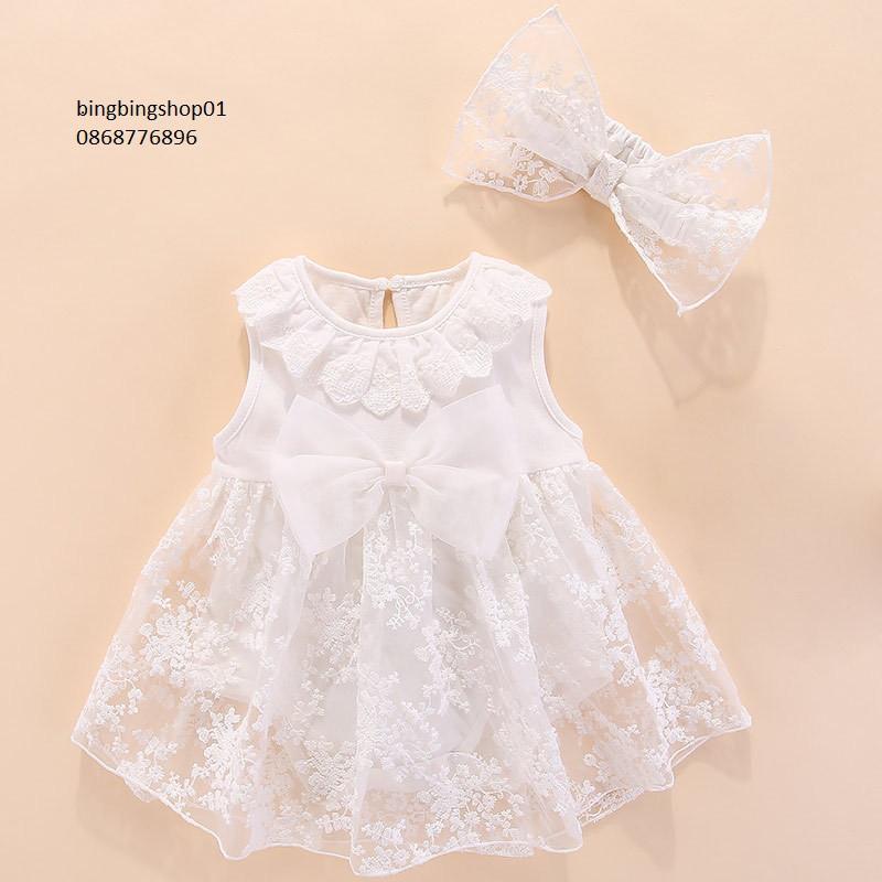 váy trắng cho bé
