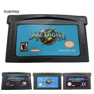HU EU US Version Zero Mission Metroid Fusion Game Cartridge Card for GBA thumbnail