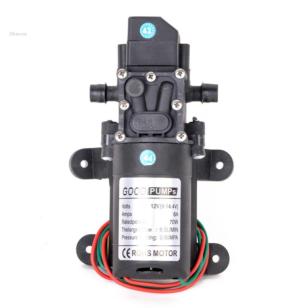 Máy bơm nước áp suất cao DC12V 72W 130psi 6L / min chất lượng cao