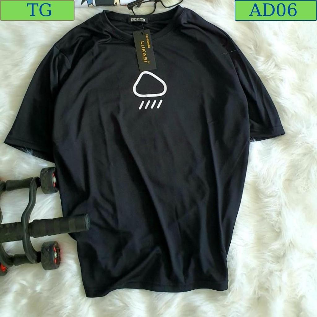 Áo thun nam thể thao cotton lạnh cao cấp from rộng tay lỡ Đen AD06 Đám Mây (44-70KG)
