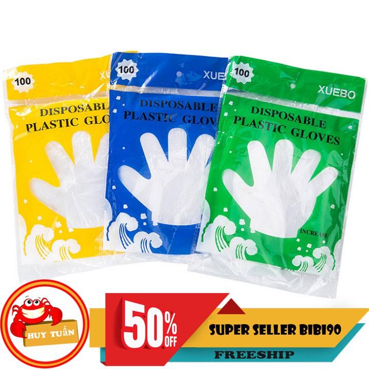 Combo 3 gói găng tay nilong dùng 1 lần (150 cái)