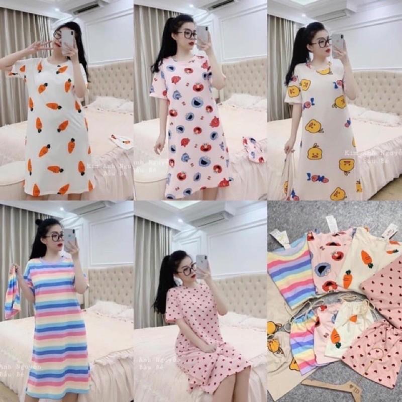 Mặc gì đẹp: Ngủ ngon hơn với Váy Ngủ 🌸 FREESHIP 50K 🌸 Đồ ngủ mặc nhà mềm,mát,mỏng họa tiết hoạt hình hàng Quảng Châu
