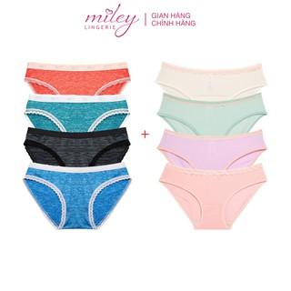 Combo 4 Quần Lót Nữ Sớ Gỗ + 4 Thun Lạnh Viền Ren Miley Lingerie FWS-BMS ( giao màu ngẫu nhiên) thumbnail