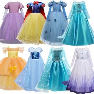 đầm công chúa Hóa Trang Công Chúa Elsa 2d Cho Bé Gái