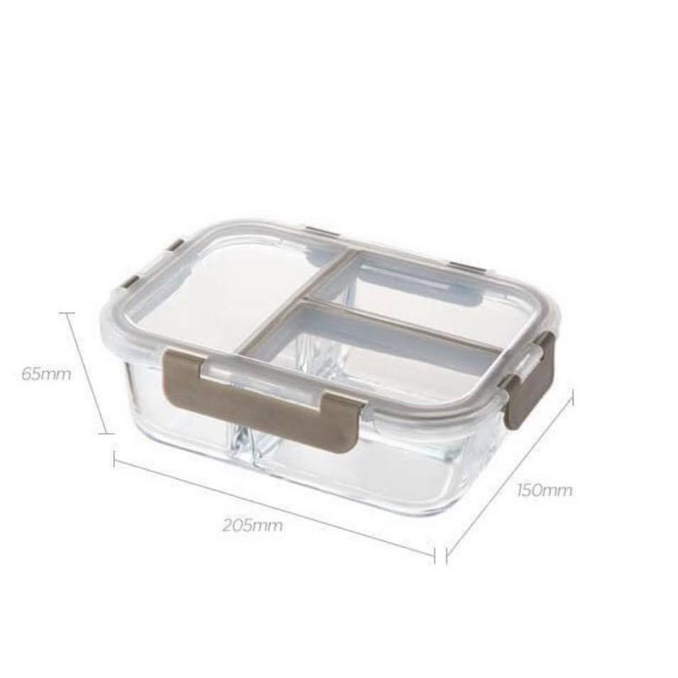 Hộp thủy tinh chia ngăn chịu nhiệt Lock&Lock Glass Food Container