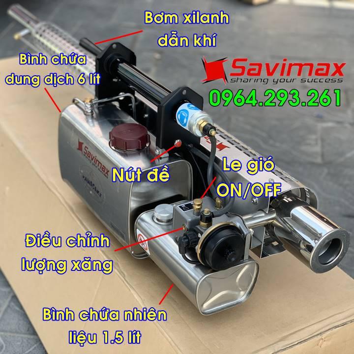 Máy phun khói phòng dịch Kawasaki TK65, công nghệ Nhật Bản