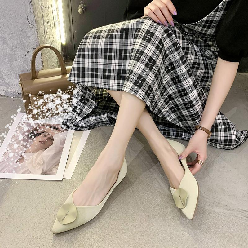 Giày Bệt Nữ, Giày Đế Bằng Mũi Nhọn Phong Cách Hàn Quốc