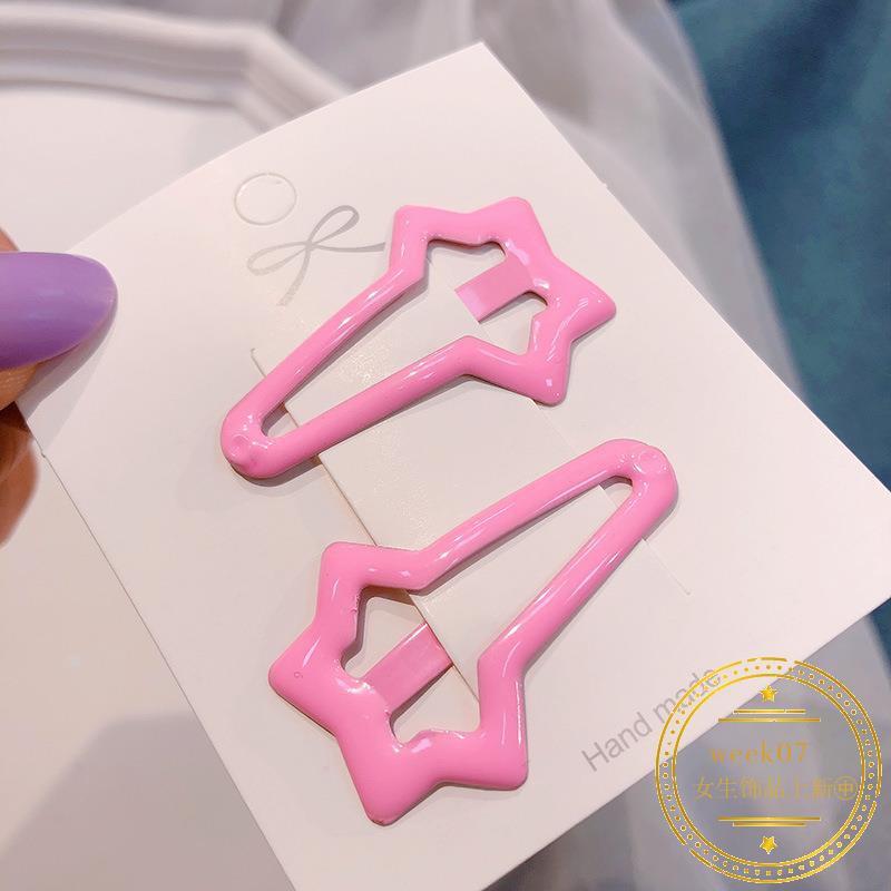 8101 Korea 泫雅风hair clip female color small bb clip hairpin clip clip headwear ca