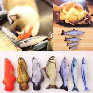 Simulation Fish Plush Toy Stuffed Cat Play Chewing Scratch