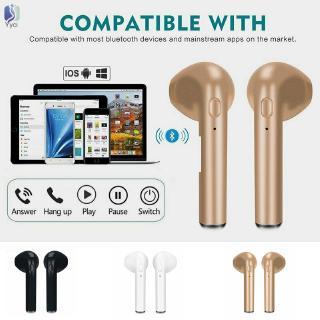 Yy i7S TWS Universal In-ear Wireless Bluetooth 4.2 Earbuds Headphones Headset @VN