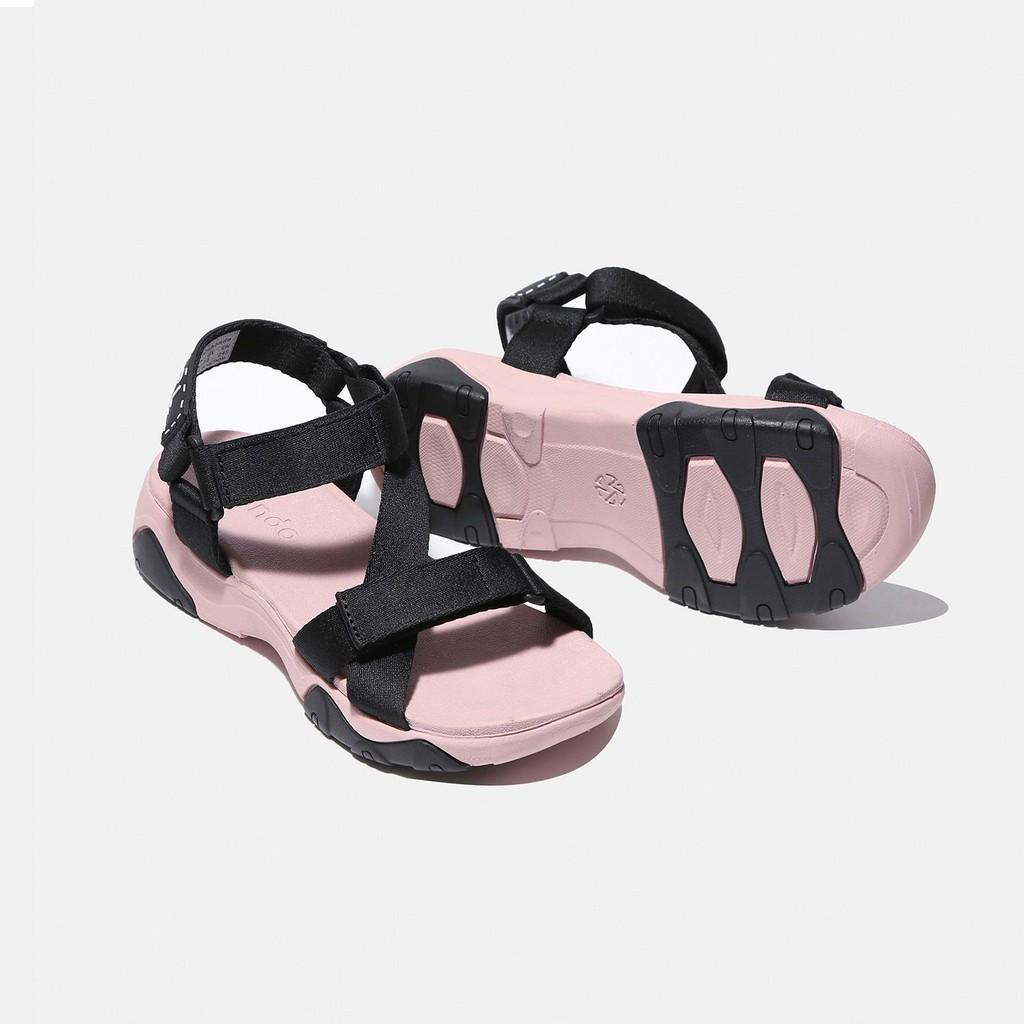 Giày Sandals SHONDO Girly - GIM7010- Đế Hồng Quai Đen