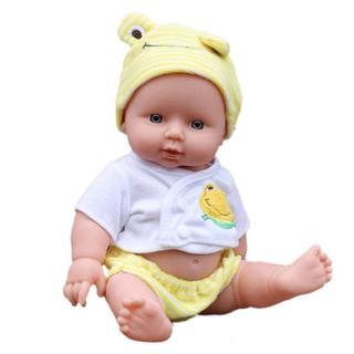 Cute Newborn Doll Soft Eco-friendly Vinyl Silicone Lifelike Newborn Baby Dolls Kids Gift Mother