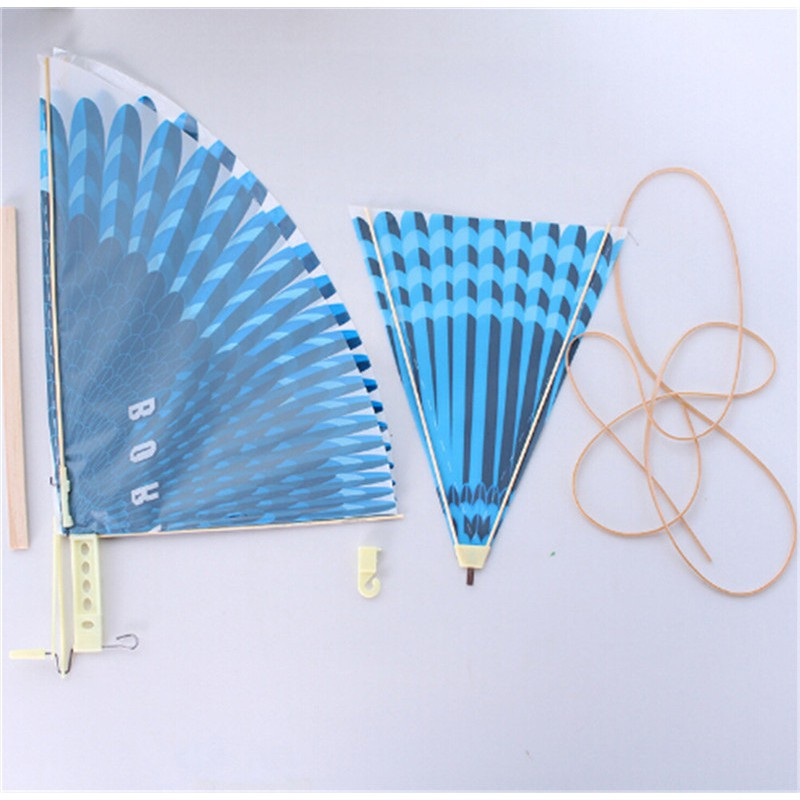 Rubber Band Power Handmade Birds Models Science Kite Toys Kids Assembly Gift