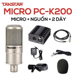 【Chính hãng】Mic thu âm Takstar PC-K200, karaoke, mic livestream, BẢO HÀNH 1 NĂM SẢN PHẨM