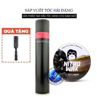 [COMBO] [Chính Hãng Tem Check SMS] Sáp Vuốt Tóc Nitro Wax V4 + Gôm Luxurious 400ml + Tặng Lược